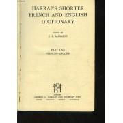 Harrap's Shorter Frenche And English Dictionnary - Part One - French - English