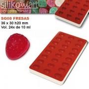Molde JellyFlex fresas de Silikomart