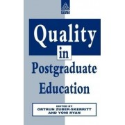Quality in Postgraduate Education by Yoni Ryan