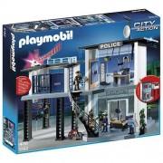 Playmobil - 5182 - Jeu de Construction - Commissariat de Police avec Système d'alarme