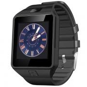 Smartwatch Star Rush black cu SIM si curea silicon