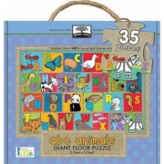 Green Start Giant Floor Puzzles: ABC Animals (35 Piece Floor Puzzles Made of 98% Recycled Materials) by Ikids Ikids