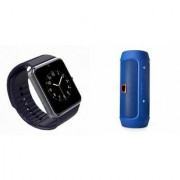 MIRZA Bluetooth Speaker (_JBL Charge K3+ Speaker) And GT08 Smart Watch for MICROMAX CANVAS PULSE 4G