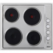 Beko HIZE64101X 4 Zone Stainless Steel Electric Cooktop
