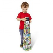 Melissa & Doug Days of Creation Stacking and Nesting Blocks With Convenient Rope-Handled Storage Box - 7 Blocks Stack to