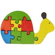 Skillofun Wooden Take Apart Puzzle Snail, Multi Color