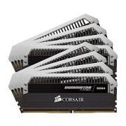 Corsair CMD128GX4M8A2666C15 Dominator Platinum Kit di Memoria da 128 GB, 8x16 GB DDR4, 2666 MHz, CL15 XMP 2.0 Enthusiast, Nero