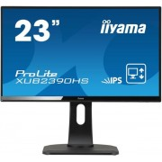 "Monitor IPS LED iiyama 23"" ProLite XUB2390HS-B1, Full HD, DVI-D, VGA, 5ms, Boxe (Negru) + Bitdefender Antivirus Plus 2017, 1 PC, 1 an, Licenta noua, Scratch Card"
