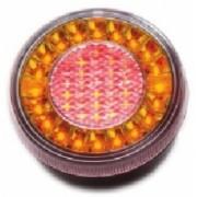 Lampa stop auto rotunda LED cu functii de Pozitie-Stop-Semnalizare 12/24V