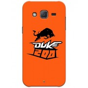 Samsung Galaxy J2 J200 (2016) Cases & Covers - KTM DUKE 200 Case by myPhoneMate - Designer Printed Hard Matte Case - Protects from Scratch and Bumps & Drops.