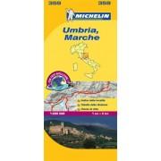 Wegenkaart - landkaart 359 Umbrië - Umbria - Marken - Marche   Michelin