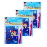 Set Of 3 Jake And The Never Land Pirates 60 Sheet Notebook Stationary Set With Pen