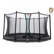 Berg InGround Trampolin Champion Grey inkl. Sicherheitsnetz Comfort 380 cm
