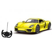 Toyshine 1:14 Rastar Official Porsche 918 Spyder Remote Control Car, Yellow