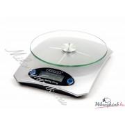 Digitális konyhai mérleg üveglapos 5kg-os