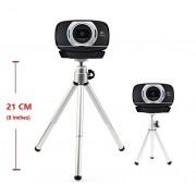 Extendable Camera Tripod Mount Holder Stand Cradle for Logitech Webcam C930e C930 C920 C615-Silver