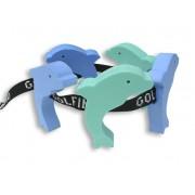 Úszóöv figurás 5 elemmel, gyermekeknek delfin forma 12 éves kor alatt 30-60 kg testsúlyig ajánlott