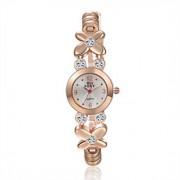 Mulheres Relógio de Moda Quartz Lega Banda Dourada marca-