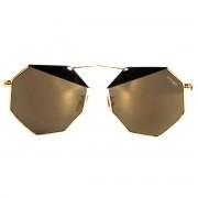 Occhiali da sole dhomy le dune gold black e black mirror bronze d00255