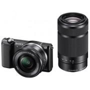 Aparat foto Mirrorless Sony A5000YB, 20MP, (Negru) + Obiectiv 16-50mm + Obiectiv 55-210mm