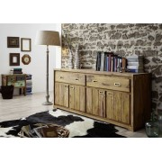 Massivmoebel24 Sheesham Holz massiv Sideboard Palisander Möbel NATURE BROWN #852