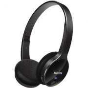 Philips SHB4000/00 On-Ear Bluetooth Stereo Headset (Black) - 1 Years Philips Warranty