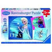 Disney - Frozen: Elsa, Anna y Olaf, puzzle de 3 x 49 piezas (Ravensburger 09269 7)