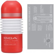 TENGA ROLLING HEAD CUP - RED - Z POHYBEM 3D