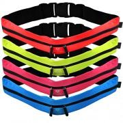 Cinturón de running »FunRunner« elegante riñonera / Riñonera / Cinturón para running, senderismo, escalada, equitación - 4 colores / Móviles de hasta aprox. 5,5 pulgadas / ¡elástico, impermeable y ajustado! Azul