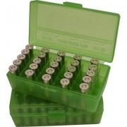 Mtm Pistol Ammo Box - Ammo Boxes Pistol Green 9mm-380 50