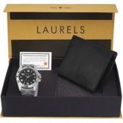 Laurels Men'S Combo Pack Of Watch & Wallet (Cp-Polo-502-Asp-02)
