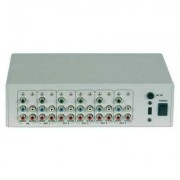 Distribuidor de Video Componente S/ Audio (1x2) - DVC-102 - Transcortec