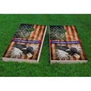"Custom Cornhole Boards Bald Eagle - God Bless America Cornhole Game CCB311 Size: 48"""" H x 24"""" W, Bag Fill: All Weather Plastic Resin"