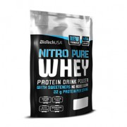 BioTech USA Nitro Pure Whey banán por - 454g
