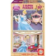 EDUCA 15286 Puzzle din lemn Cenuşăreasa 2x50 bucăţi