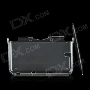 Proteccion PC Case w / Protector de pantalla / Stylus para Nintendo 3DS LL / XL 3DS - Transparente