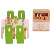 Hape Meubles de salle à manger pour maison poupée E3454