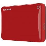 HDD Extern Toshiba Canvio Connect II, 2.5 inch, 1TB, USB 3.0 (Rosu)
