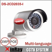 Hikvision Multi-language 1080P DS-2CD2035-I 4/6mm Lens Instead DS-2CD2032F-I IP Camera Mini Outdoor Bullet CCTV POE Camera