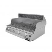Barbecue professionali Barbecue a gas Fry Top 750 Basic da appoggio 4 bruciatori senza coperchio con griglia scolo a V