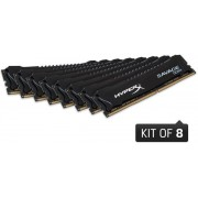 Memorie Kingston HyperX Savage Black DDR4, 8x16GB, 2666 MHz, CL 15