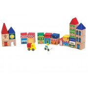 Shopping Centre 30 Piece Wooden Bloack Set by Santoys