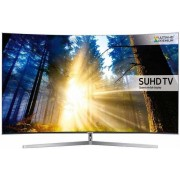 "Televizor LED Samsung 139 cm (55"") UE55KS9000, Ultra HD 4K, Smart TV, Ecran Curbat, WiFi, Ci+ + Lantisor placat cu aur si pandantiv in forma de inel gravat"
