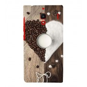 ASSORTED COFFEE BEANS AND SUGAR MAKING A HEART AND DEPICTING SWEETNESS 3D Hard Polycarbonate Designer Back Case Cover for Xiaomi Redmi 1S :: Xiaomi Redmi (1st Gen)