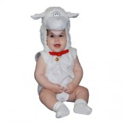 Dress Up America 363-12-24 - Costume da Agnello di Peluche 12-24 Mesi, Multicolore