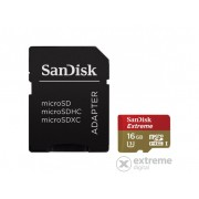 Card de memorie SanDisk Secure Digital Micro 16GB SDHC Mobile Extreme , + adaptor , (90MB/s) UHS-1 + Rescue Pro Deluxe