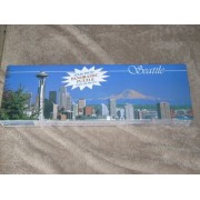 "Seattle 12""x36"" Panoramic Puzzle Over 500 Pieces. Photograph by Craig Tuttle. #10022 Impact. Snow-capped peak of Mt Ranier, Space Needle and Downtown."