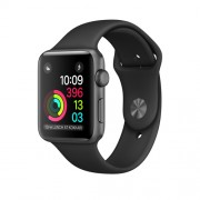 APPLE APPLE WATCH SERIES 1 38MM SPACE GREY ALUMINIUM CASE WITH BLACK SPORT BAND