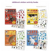 Farm, Zoo, Cat, Dog, Wild Animals Stickers 4 Sticker Activity Books 280 Stickers w/ Amazing Animal F