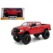 2014 Dodge Ram 1500 Red Pickup Truck Off Road Just Trucks 1/24 by Jada 97474